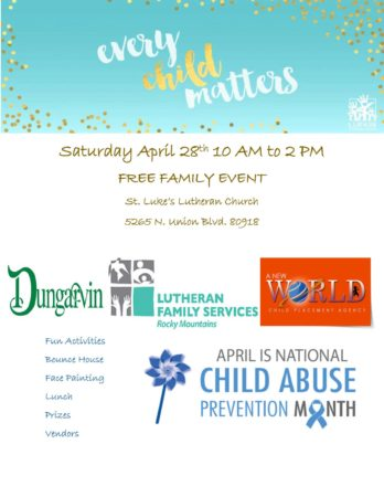 Every Child Matters Family Event - Colorado Springs @ St. Luke's Lutheran Church