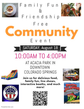 Family Fun & Friendship Community Event - CO Springs @ Acacia Park
