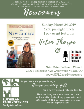 Welcoming the Newcomers - Denver @ Saint Peter Lutheran Church