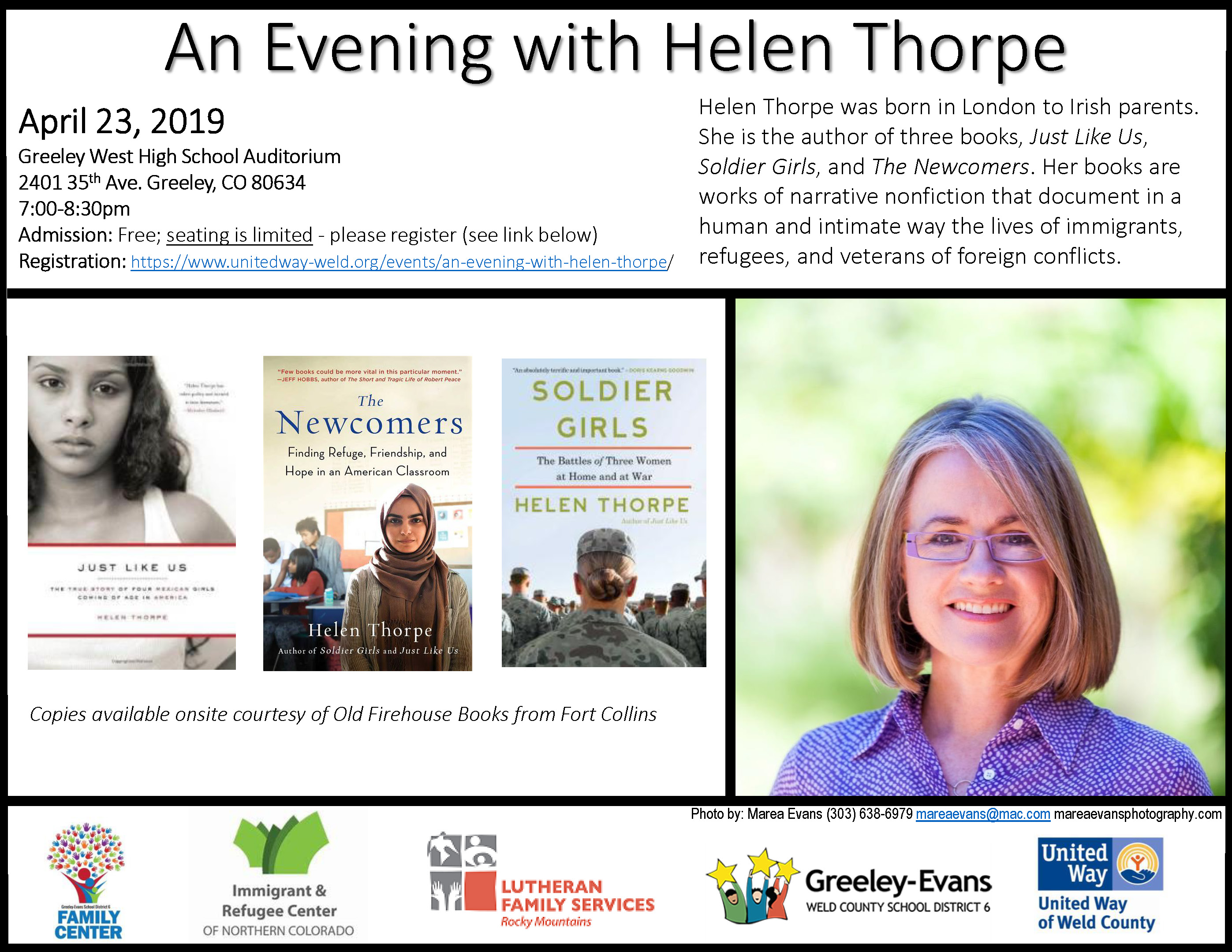 An Evening with Helen Thorpe - Greeley - Lutheran Family Services